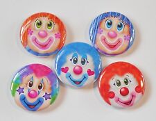 "Clown Face Flatback - Pin Back Buttons 1"" for Bows Embellishments"