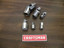 "CRAFTSMAN Universal Joints & Adapters - Any Size - 1/4"" 3/8"" and 1/2"" inch NEW"