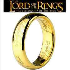 "Lord of the Rings ""The One Ring"" Bilbo's Hobbit Ring 18K GOLD Pure Tungsten Ring"