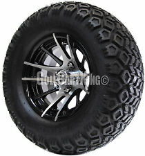 "12"" RHOX RX101 Wheel with Tire Combo and EZGO Golf Cart Lift Kit"