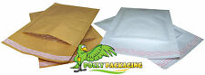 PADDED ENVELOPES / BAGS - WHITE & GOLD - MAIL LITE JIFFY STYLE - ALL SIZES