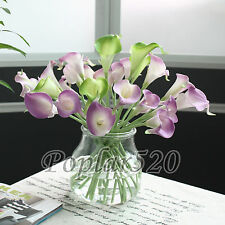 Calla Lily Bridal Wedding Bouquet DIY 8-24 Head Real Touch Latex Flower Bouquets