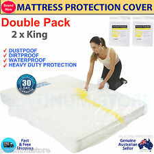 King Queen Single Size Bed Plastic Mattress Cover Moving Storage Bag Value Packs
