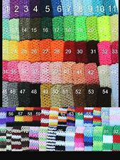 "70+ colors WHOLESALE BULK LOT 9"" / 8"" Crochet Tube Top baby tutu top headband"