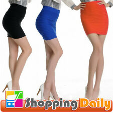 Girl A-Line Mini Pleated Skirt Slim Fit Seamless Stretch Tight Fitted