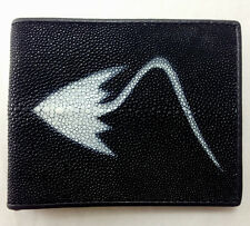 NEW! GENUINE STINGRAY LEATHER WALLET,BI-FOLD ,COIN PURSE ZIPPER,CARD HOLDER (B)