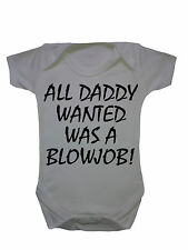 Baby Clothes New Born Daddy Bodysuit Vest Girl Boys Slogan Shower Gifts Funny