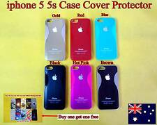 Apple iPhone 5 5S Case Cover Protector Metallic Hard Back (Buy one get free) D02