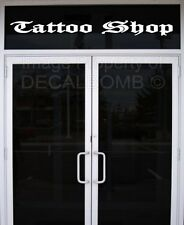 Tattoo Shop decal / sticker old english style parlor ink gun tat design store