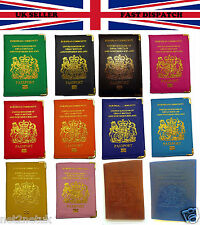 United Kingdom and European Passport Holder Protector PU Leather Cover Wallet