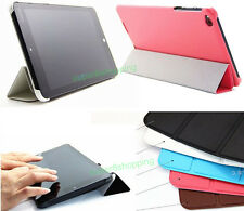 """Ultra Slim Tri-Fold Leather Case Cover for Lenovo ThinkPad 8.3"""" Win8.1 Tablet"""