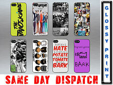 The Janoskians Dogs Gonna Bark Quote Fun iPhone 4/4s Hard Black/White Case Cover