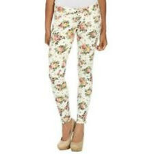 Arden B White Floral Print Skinny Jeans Denim Bottoms Size 6 NWT Pants Spandex