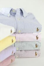 NWT POLO RALPH LAUREN Men's Custom Fit Oxford Stripe Long Sleeve Sport Shirt