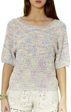 Redsoul Womens Pullover Jumper Open Back Bow Tie 3/4 Sleeve Knitted Sweater