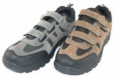 Mens Trail Shoes Trainers Velcro Fastening  Grey or Brown Sizes 6,7,8,9,10,11,12