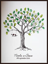 A3 Personalised Wedding Fingerprint Tree With Inks