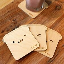 New 3 Model Creative home Lovely Bear wooden Nonslip Drinks Coasters (A208)