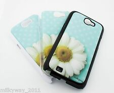 #111 for SAMSUNG GALAXY NOTE 2 Case Cover POLKA DOT DAISY teal flower floral ohm