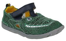 KIDS BOYS INFANTS ZOOLIGANS SOFT LEATHER JACQUES THE GATOR  GREEN SHOES FAB879
