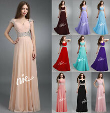 Long Charming  Bridesmaid Dress Evening  Party  Prom Gown Size 6 8 10 12 14 16