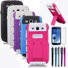 Rugged Heavy Duty Case Cover Hybrid Dual Layer stand For SAMSUNG GALAXY S3 i9300