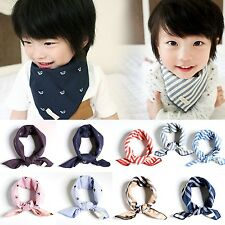 NEW 9 Kinds Of 100% Cotton Kids Stripe Scarf hanky handkerchief Head Neck Scarf