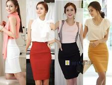 Fashion Womens Fitted Business Bodycon Short Career High Waist Pencil Skirt Moto
