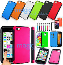 FULL  FRONT & BACK HYBRID HARD ARMOR SHOCK PROOF CASE COVER FOR MOBILE PHONES