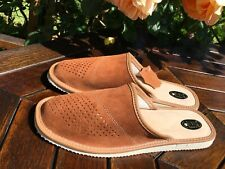 New Mens Grey Leather Slippers Mule Shoes Size7 8 9 10 11 12 13 Flip-Flop