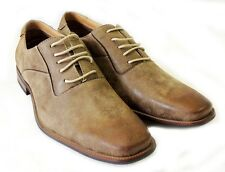 NEW *FERRO ALDO* MENS LACE UP OXFORDS WING TIP LEATHER LINED DRESS SHOES / BROWN