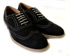NEW  FASHION MENS LACE UP WING TIP OXFORDS CASUAL LEATHER LINED DRESS SHOES/ BLK
