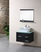 "DESIGN ELEMENT 30"" MADRID DEC1100A WALL MOUNT SINGLE VANITY BATHROOM CABINET SET"