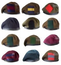 CURRENT BRITISH INFANTRY REGIMENTS BERET SIZES 53-62cm & BACKING IF REQUIRED