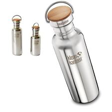 Klean Kanteen Reflect Water Bottle Brushed or Polished with Bamboo Cap - 2 Sizes