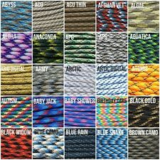 MR PARACORD MULTI COLOR 1 550 PARACORD PARACHUTE CORD TYPE III SPEC 7 STRAND