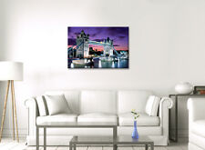LARGE LONDON CITY TOWER BRIDGE FRAMED CANVAS WALL ART PICTURE STUNNING NEW PRINT