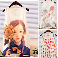 Sweet Ladys Girls Chiffon T Shirt Cami Tank Vests Casual Tops Blouse 3 Styles