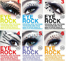 1 Pairs Crystal Eye Rock Tattoos Eye liner Eye shadow Sticker For Makeup