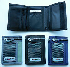 *NEW* LORENZ CANVAS wallet in BLACK GREY or NAVY  *Fast Free UK Delivery*