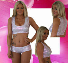 Pink/Silver Fitness Pole Dancing/Yoga/Gym Top