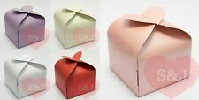 10/50 Heart - 6cm Wedding Bomboniere/Favour Boxes - Bridal Party Baby Shower