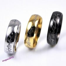 Lord Of The Rings Same Style Rings Stainless Steel Unisex Band Rings 3 Color Hot