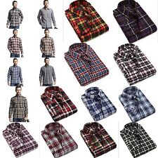 Stylish 100% Cotton Mens Turn-down Collar Plaid Long Sleeve Casual Fitted Shirt