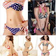 Sexy Girl Women Bikini Set PUSH-UP HALTER Padded Bra Swimwear 2PCS Bathing Suit