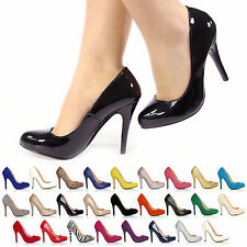 WOMENS HIGH HEEL COURT STILLETO PARTY EVENING SHOES LADIES FASHION PUMPS SIZE'S