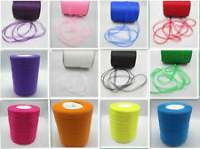 "hot sale Our Price 50Yards 3/8"" Edge Sheer Organza Ribbon Craft Satin many color"