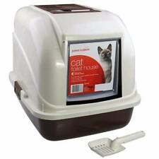 New Rect Portable Hooded Cat Toilet Litter Box Tray House With Handle and Scoop