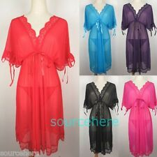for L XL XXL Sexy Babydoll Lingerie Robes Dress Sheer Nightgown 1X 2X Plus Size