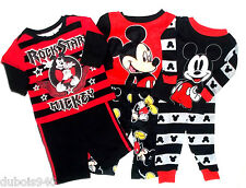 NWT Boys sz 12,18,24 mo,3T,4T,5T Grey Disney Mickey Mouse 2 Pc Pajamas Pants Set